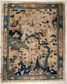 Antique Chinese Pictorial Rug: 9' x 11'5'' (274 x 348