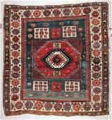 Antique Karachov Kazak Rug: 6'2'' x 6'7'' (188 x 201