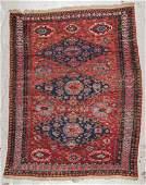 Antique Sumak Rug: 5'2'' x 6'6'' (157 x 198 cm)