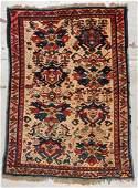 Antique Camel Field Kuba Rug: 3'5'' x 4'7'' (104 x 140