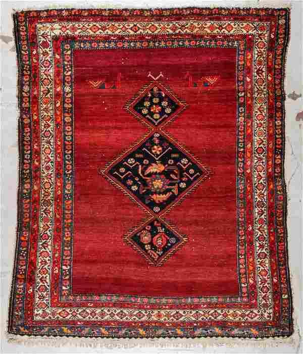 Antique Hamadan Rug: 4'11'' x 6' (150 x 183 cm)