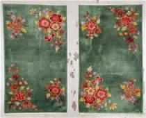Pair Art Deco Chinese Rugs: 3' x 5'3'' (91 x 160 cm)