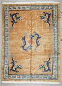 Chinese Art Deco Style Dragon Rug: 8'11'' x 12'3'' (272