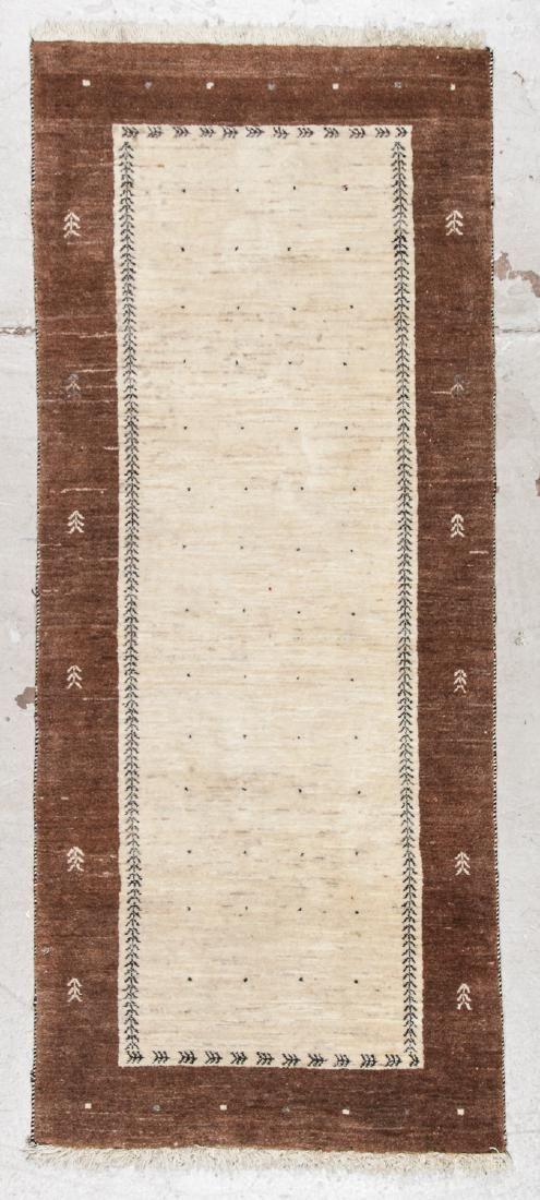 Vintage Persian Gabbeh Rug: 2'8'' x 6'5'' (81 x 196 cm)