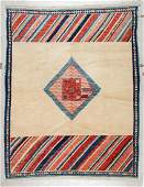 Vintage Turkish Village Rug: 6'1'' x 7'7'' (185 x 231