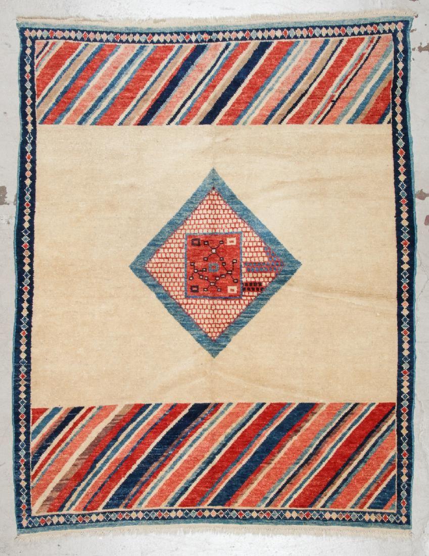 Vintage Turkish Village Rug: 6'1'' x 7'7'' (185 x 231