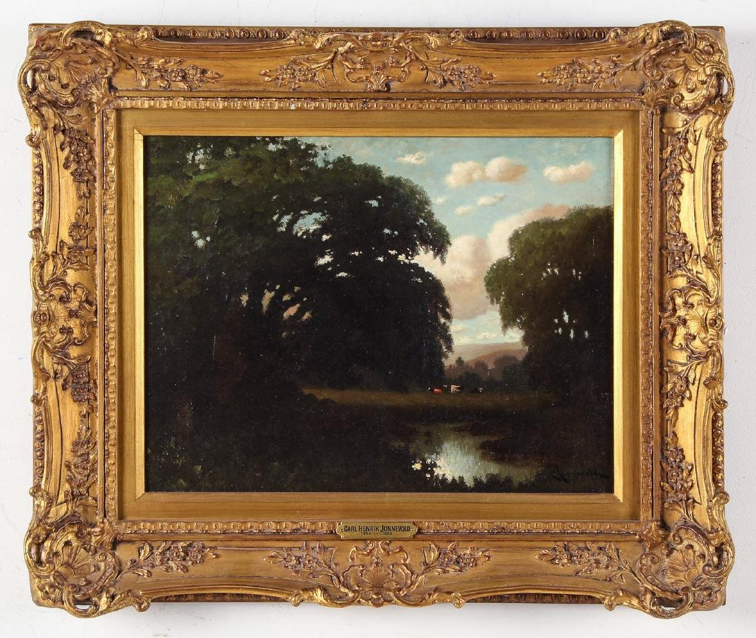 Carl Henrik Jonnevold (1856-1930) Landscape Painting