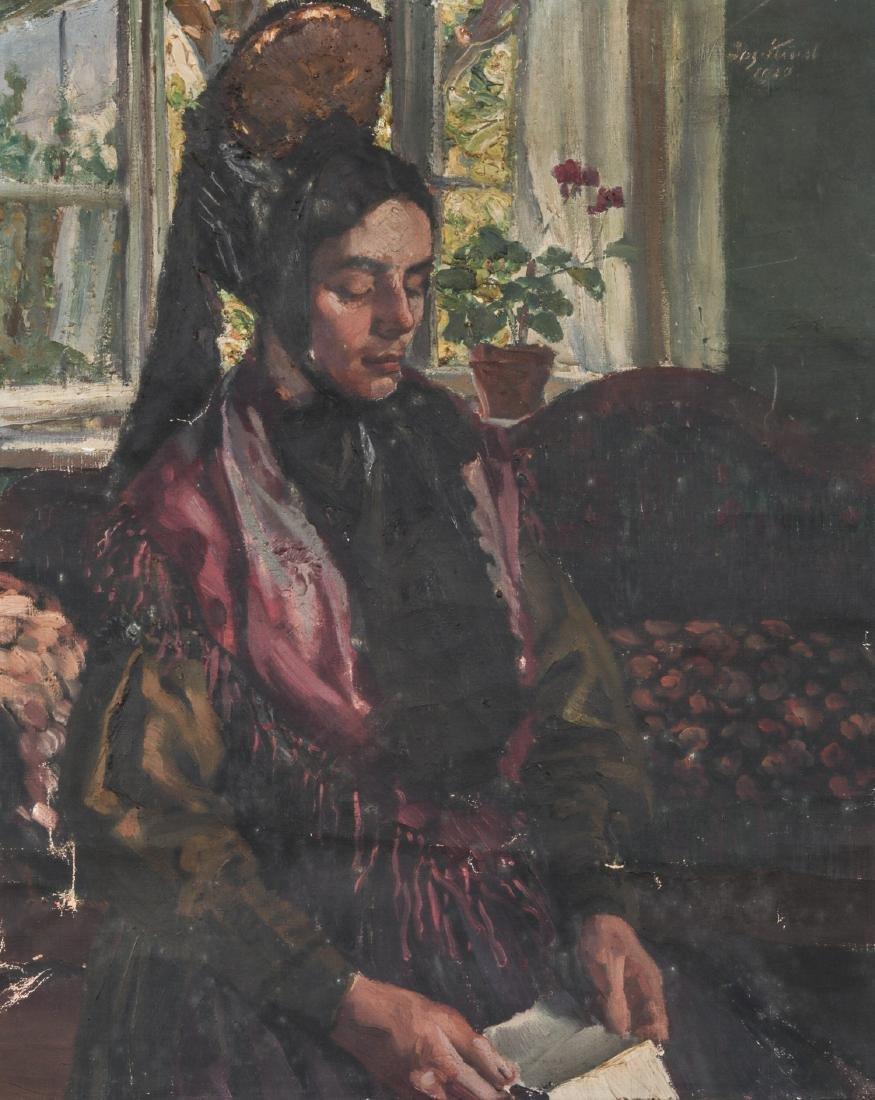 European School (20th c.) Portrait of a Lady, 1920