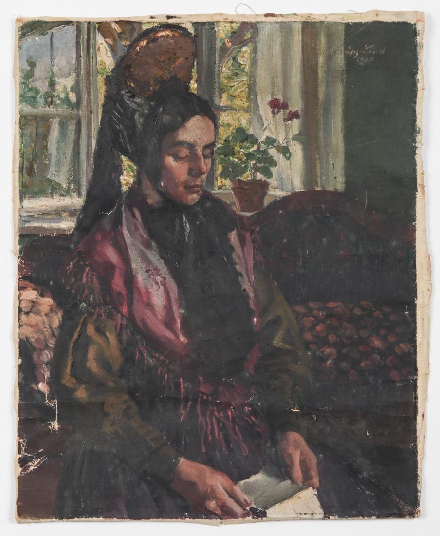 European School (20th c.) Portrait of a Lady, 1920 - 2