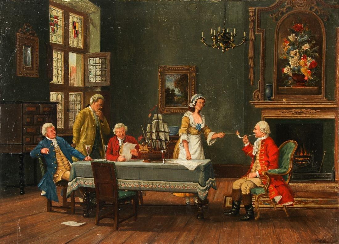 Antique American School (19/20th c.) Interior