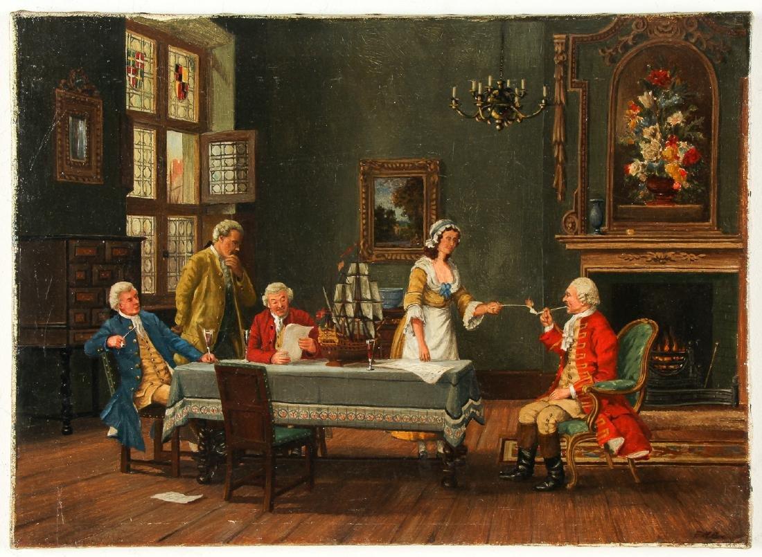 Antique American School (19/20th c.) Interior - 2