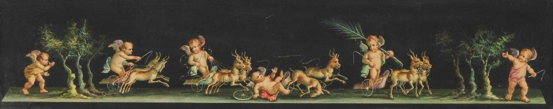 Antique European School Watercolor Painting