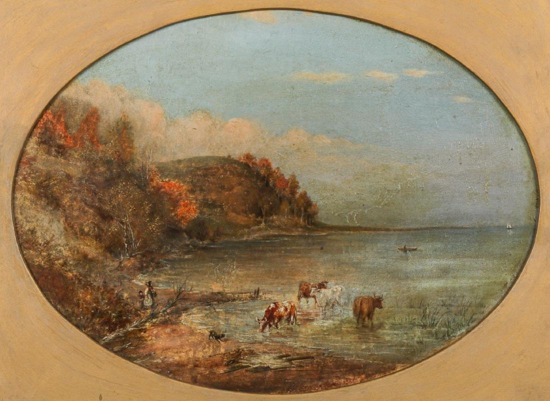Cornelius David Krieghoff (1815-1872) Landscape with - 2