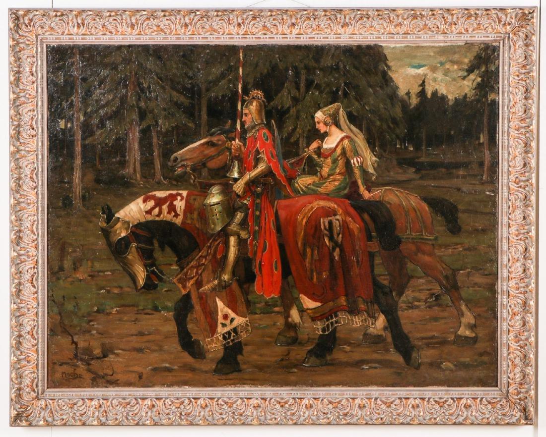 After Alphonse Mucha (1860-1939) Prince and Princess on