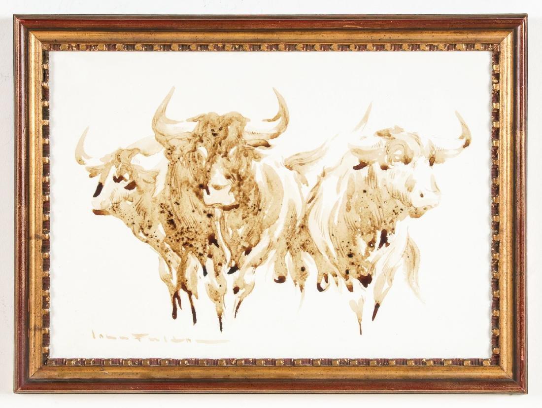 John Fulton Short (1932-1998) Bull's Blood Painting