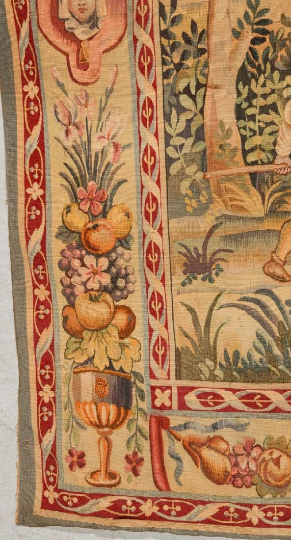 Antique Aubusson Tapestry, France, Signed - 2
