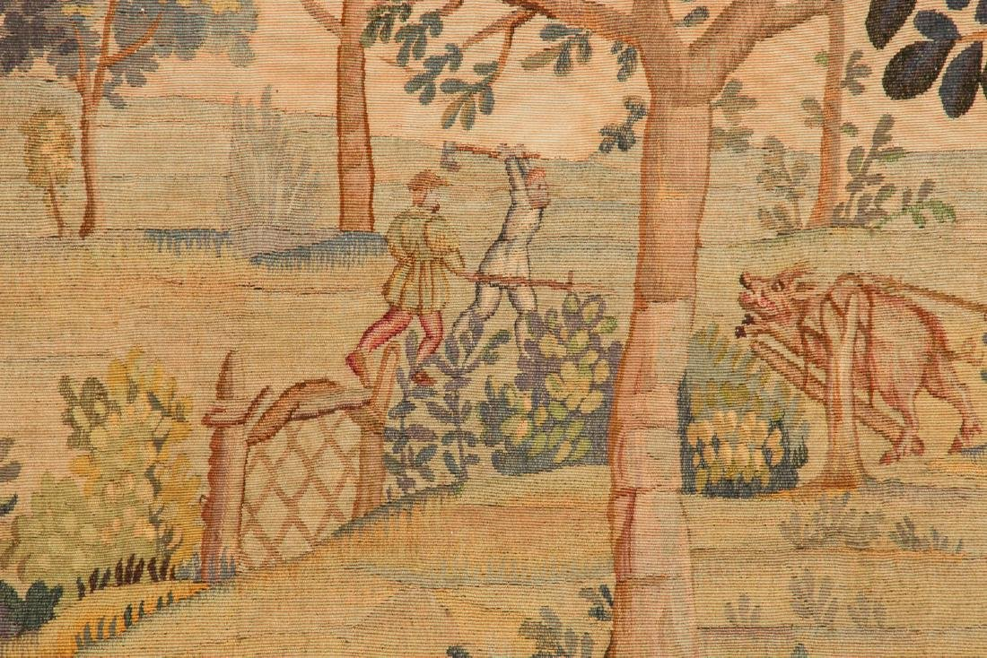Antique Aubusson Tapestry, France, Signed - 4