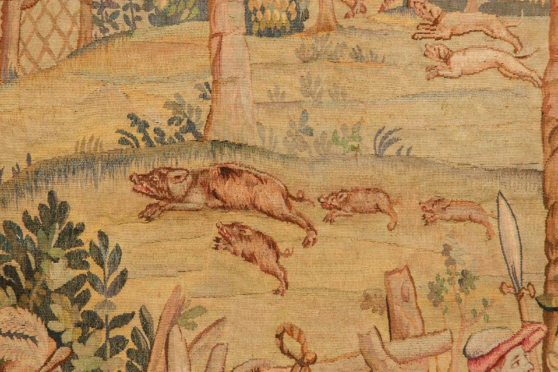 Antique Aubusson Tapestry, France, Signed - 7