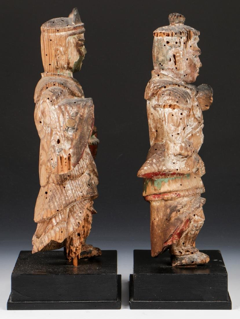 Pair of 16th C. Japanese Warrior Figures - 2