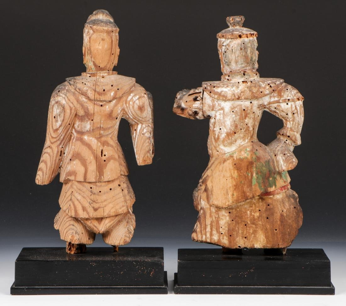 Pair of 16th C. Japanese Warrior Figures - 3