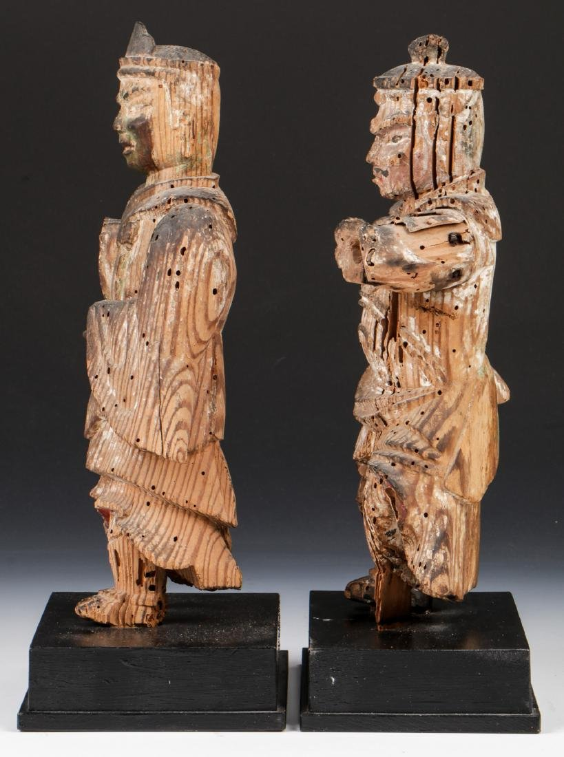 Pair of 16th C. Japanese Warrior Figures - 4