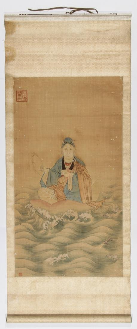 Chinese Ancestor Scroll Painting