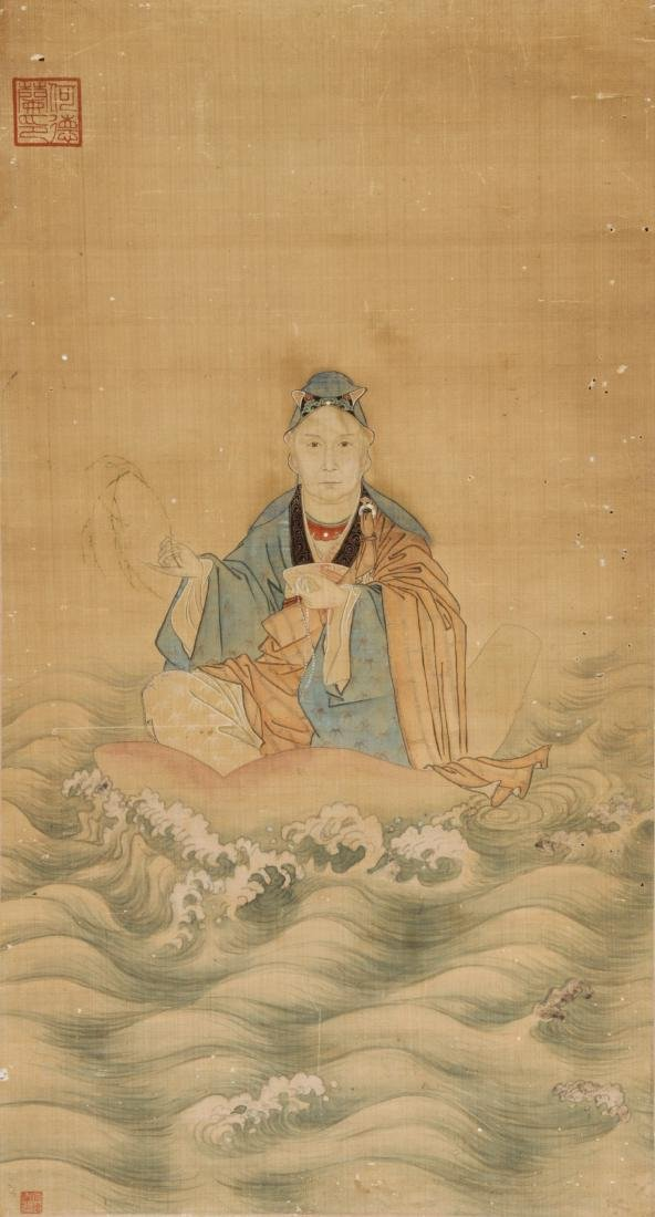 Chinese Ancestor Scroll Painting - 2