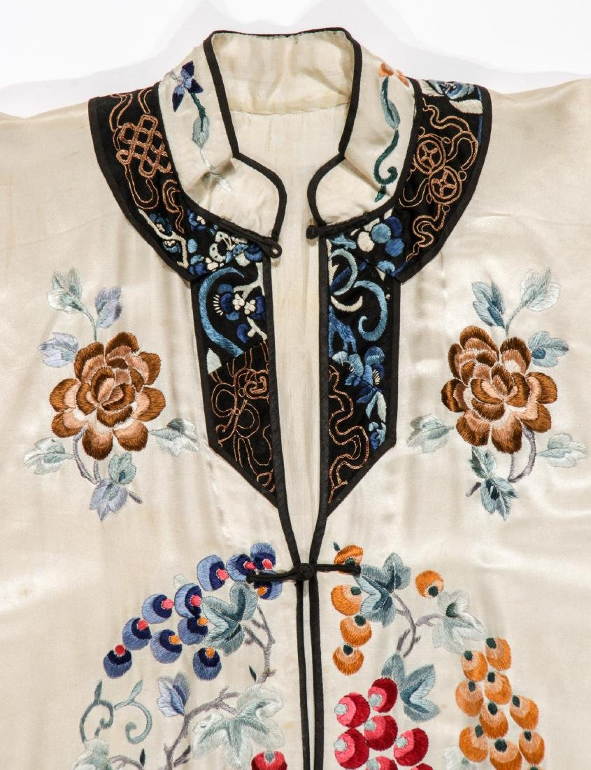 Chinese Silk Embroidered Robe - 2
