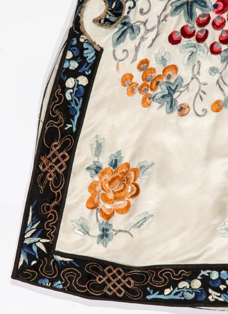 Chinese Silk Embroidered Robe - 6