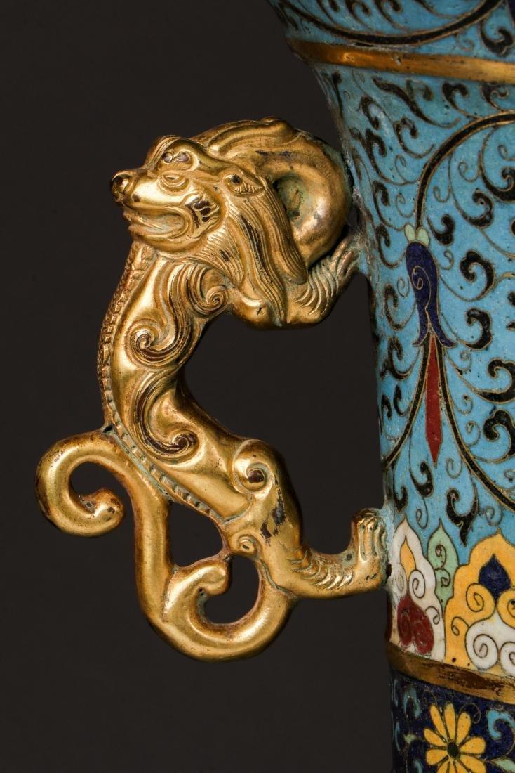 Fine Chinese Cloisonne Censer - 10