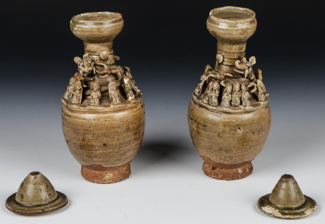 Two Chinese Funerary Urns - 2
