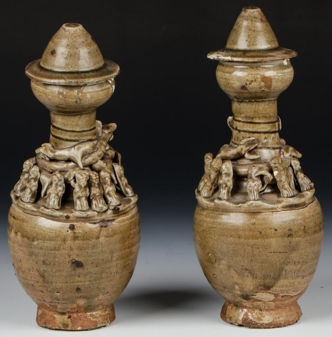 Two Chinese Funerary Urns - 6