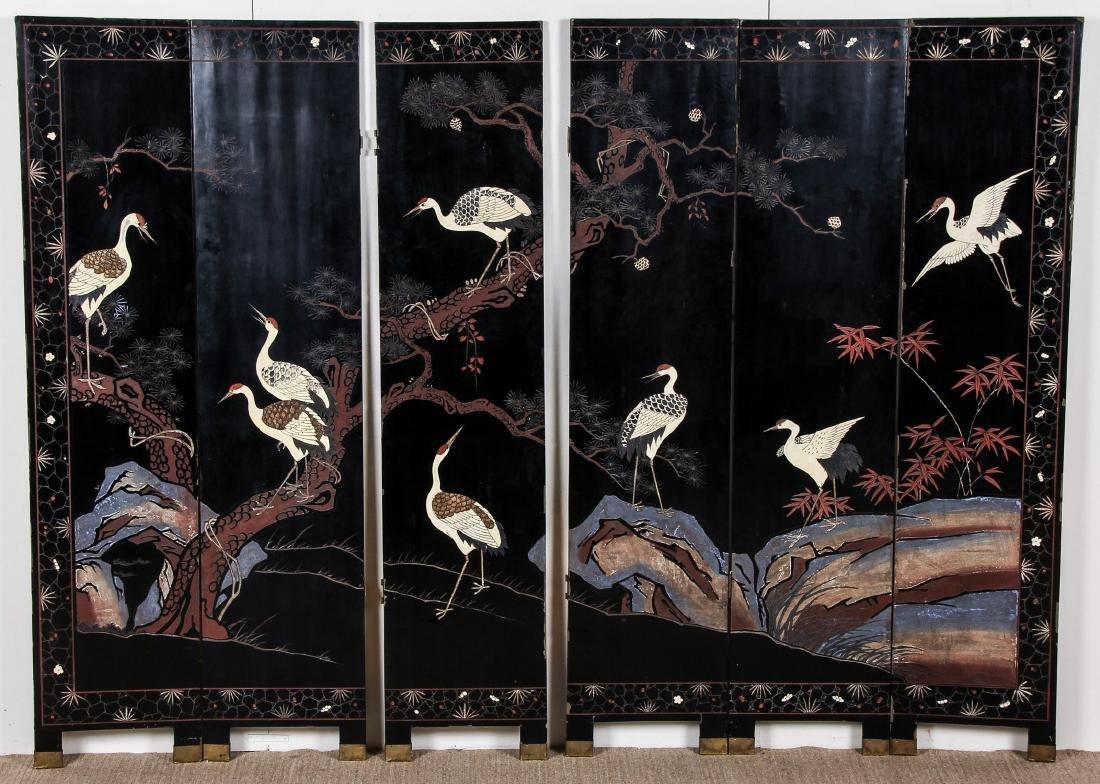 Chinese Inlaid Screen - 6