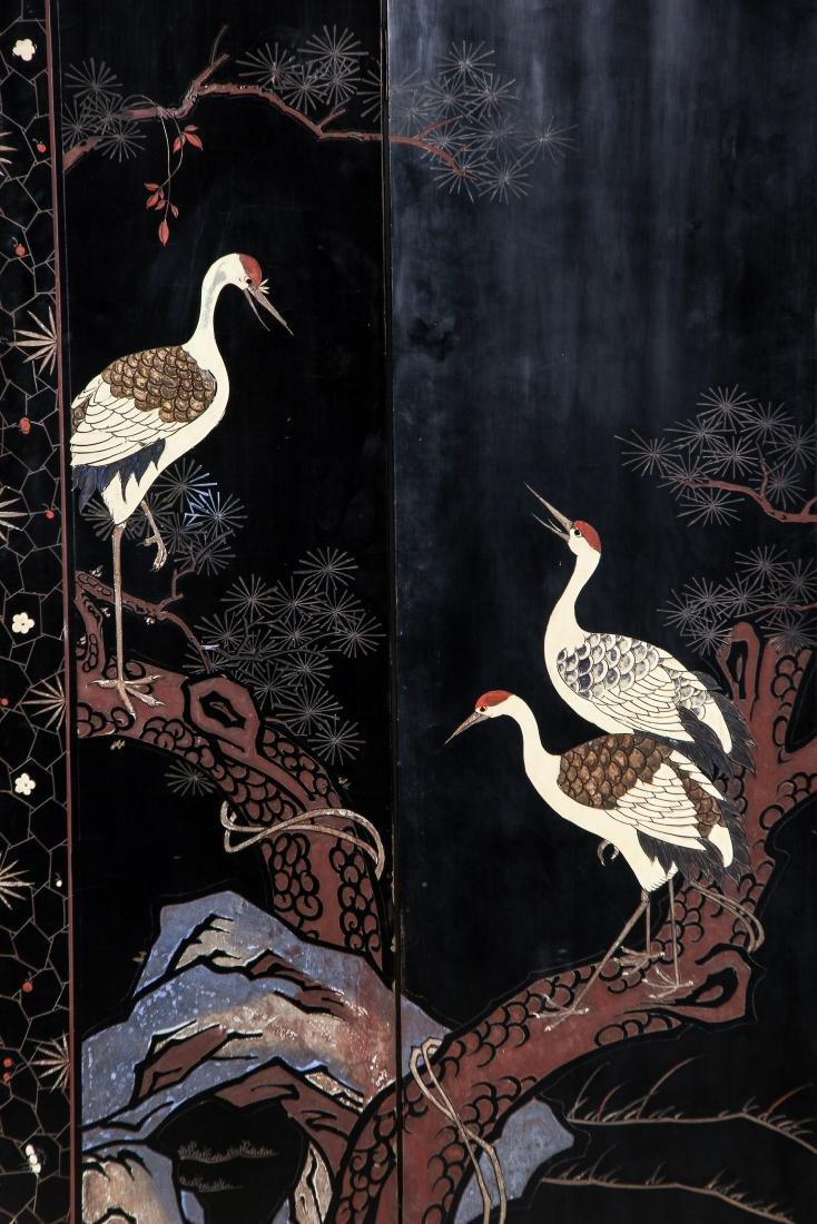 Chinese Inlaid Screen - 7