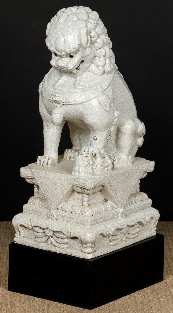 Pair of Large Chinese Ceramic Guardian Lions/Foo Dogs - 8