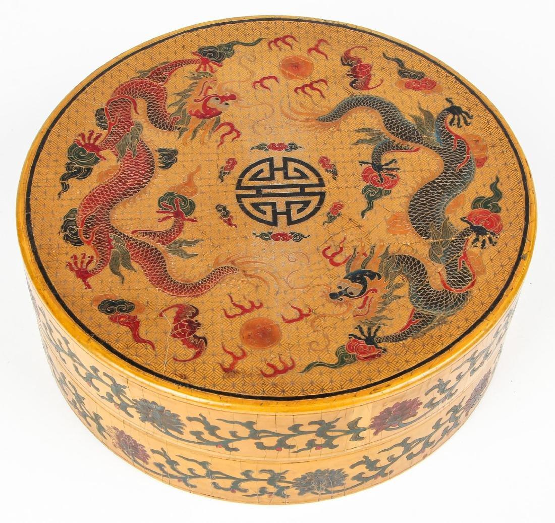 Chinese Laquerware Box with Dragon Motif