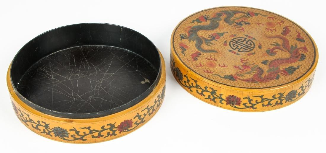 Chinese Laquerware Box with Dragon Motif - 3
