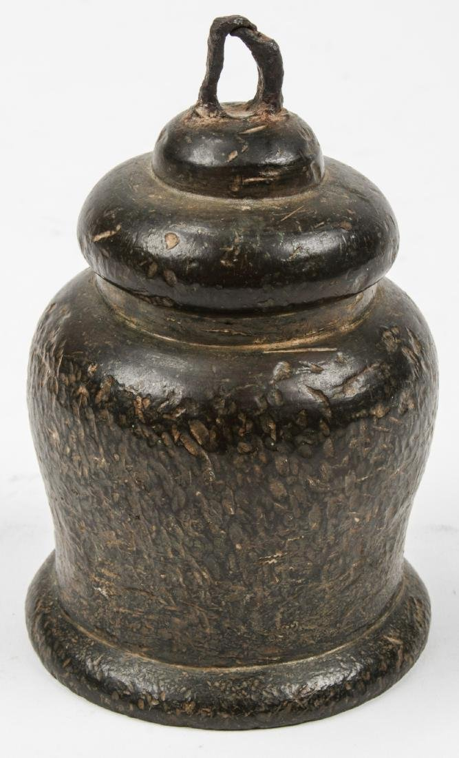 Antique Archaic Asian Bronze Temple Bell