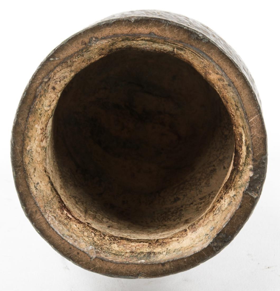 Antique Archaic Asian Bronze Temple Bell - 2