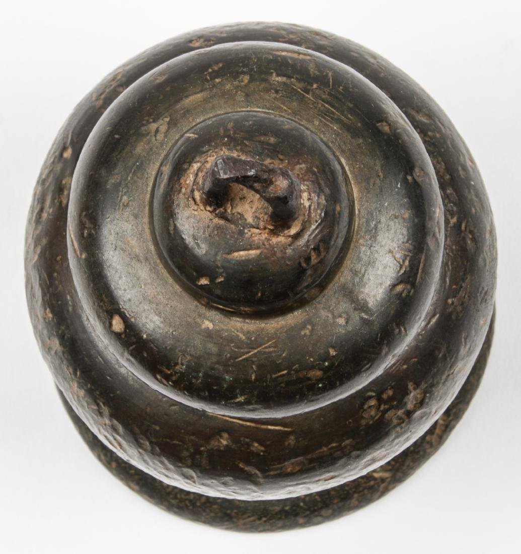 Antique Archaic Asian Bronze Temple Bell - 3
