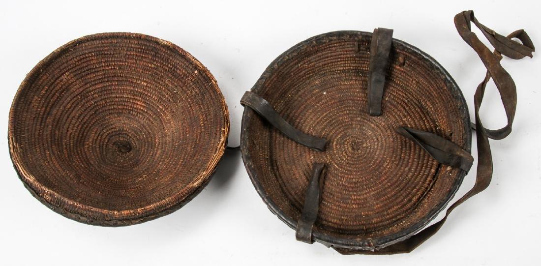 Old Ethiopian Leather Basket - 2