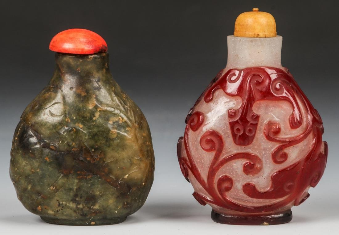 Pair of Chinese Snuff Bottles - 3