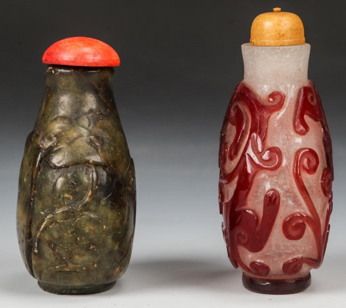 Pair of Chinese Snuff Bottles - 4