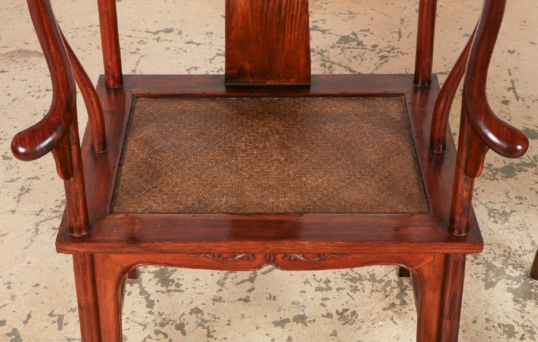 Pair of Chinese Ming Style Horseshoe Chairs - 4