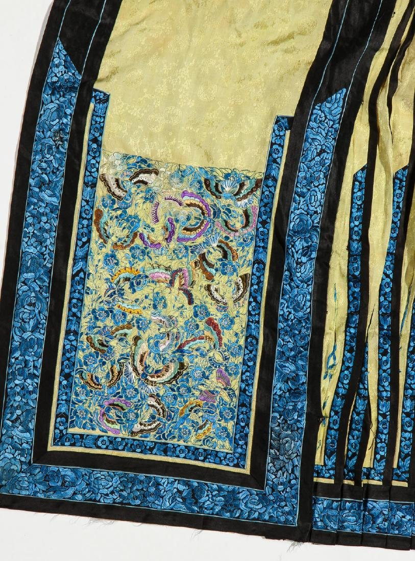 2 Antique Chinese Silk Embroidered Skirts - 2