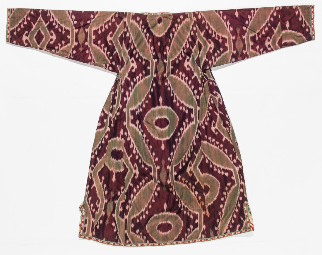 2 Antique Central Asian Silk Ikat Coat/Chapans - 2