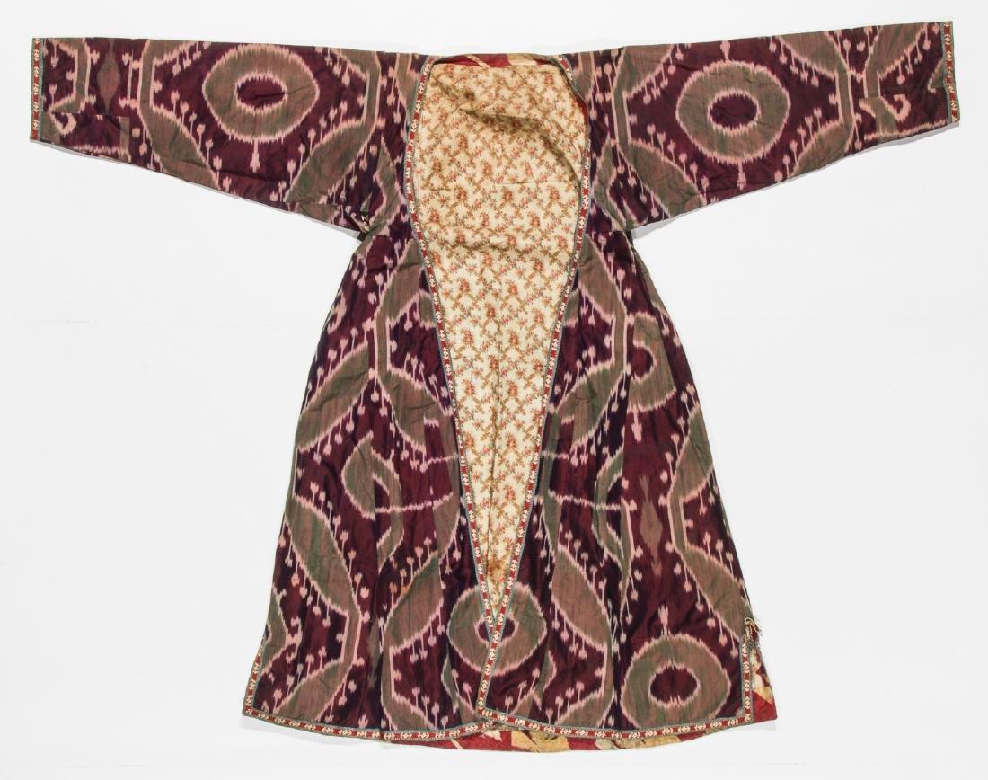 2 Antique Central Asian Silk Ikat Coat/Chapans - 3