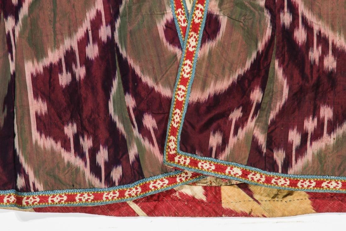 2 Antique Central Asian Silk Ikat Coat/Chapans - 4