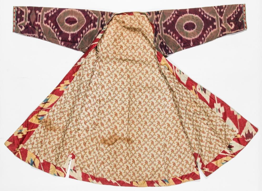 2 Antique Central Asian Silk Ikat Coat/Chapans - 5