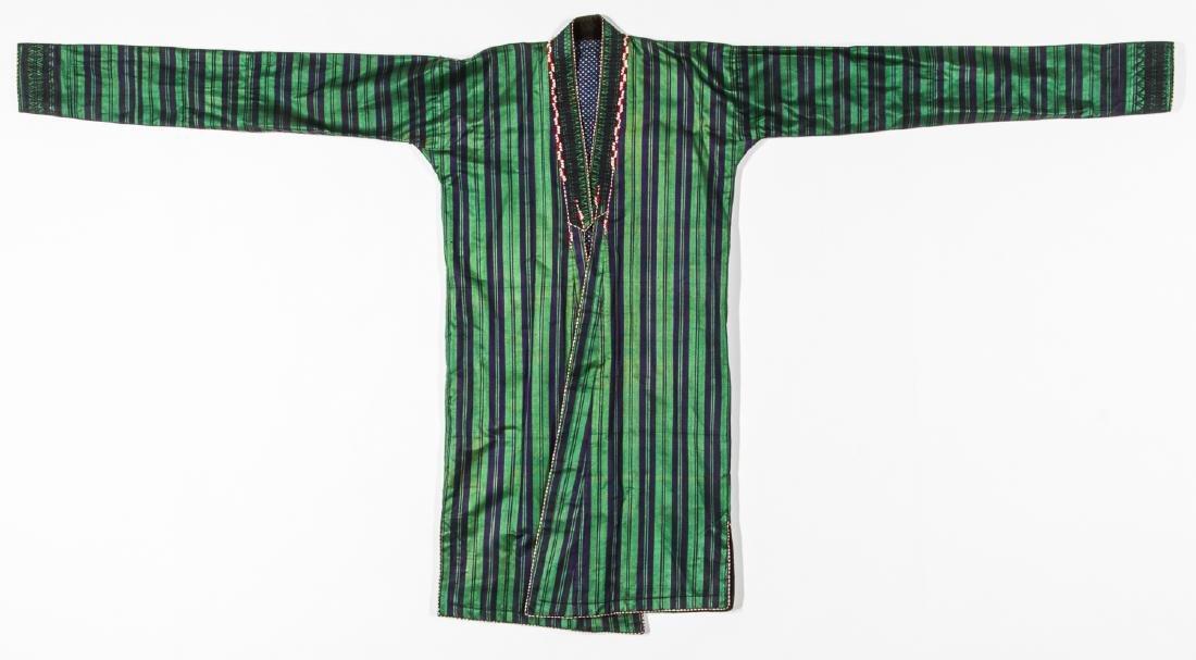 2 Antique Central Asian Silk Ikat Coat/Chapans - 7